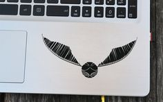 Harry Potter inspired Golden Snitch decal, Hogwarts quidditch cup, laptop decal, vinyl decals, macbook decal, wall sticker, car decal