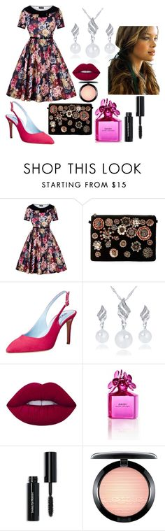 """""""Dorothy Martinez"""" by hannah-graves ❤ liked on Polyvore featuring Steve Madden, Studio Pollini, Lime Crime, Marc Jacobs, Bobbi Brown Cosmetics and MAC Cosmetics"""
