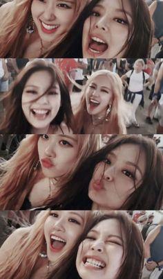 Blackpink, Rose e jennie Kpop Girl Groups, Korean Girl Groups, Kpop Girls, Divas, K Pop, Lisa Blackpink Wallpaper, Wallpaper Lockscreen, Black Pink Kpop, Blackpink Memes