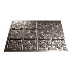 DIY Backsplash:  Fasade 24-1/2-in Brushed Nickel Thermoplastic Multipurpose (Kitchen, Bath or Bar) Backsplash