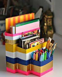 ideas for diy desk organization organizers school supplies Back To School Diy Organization, Desk Organization Diy, School Supplies Organization, Diy Back To School, Diy School Supplies, Diy Desk, Office Supplies, Art Supplies, Crafts For Teens