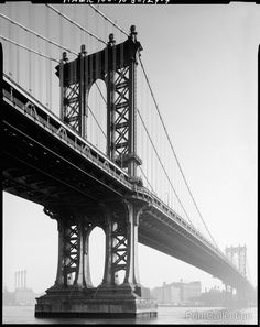 Manhattan Bridge, Spanning East River at Flatbush Avenue, between New York City & Brooklyn, New York, New York, NY. Related Names: Gustav Lindenthal, Carrere & Hastings, Daniel Chester French. Photogr