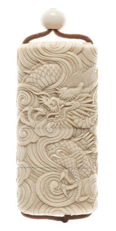 AN IVORY THREE-CASE INRO 19th century Sold for US$ 1,760 inc. premium FINE JAPANESE ART 17 May 2012. Bonhams