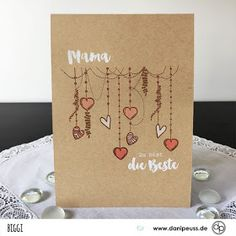 """Mother & Day card with plain text stamp """"Happy Mama Day"""" by Biggi for www. Mother & Day card with plain text stamp """"Happy Mama Day"""" by Biggi for www. Birthday Gifts For Bestfriends, Birthday Cards For Mum, Diy Birthday, Birthday Greeting Cards, Scrapbook Designs, Scrapbook Supplies, Scrapbooking Ideas, Diy Gifts Last Minute, Handmade Wedding Invitations"""