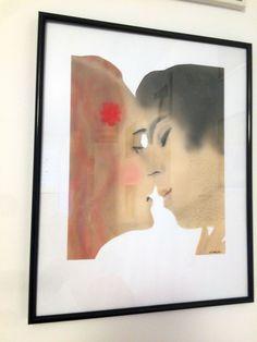 Der Kuss Frame, Home Decor, Paper, A Kiss, Artworks, Photo Illustration, Picture Frame, Decoration Home, Room Decor