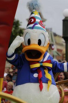 Donald at the parade