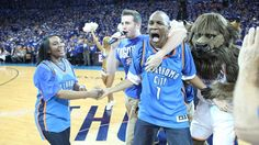 Larry Hill of OKC after $20K Half-court Shot - April 21, 2013 | THE OFFICIAL SITE OF THE OKLAHOMA CITY THUNDER
