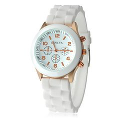White Swiss Silicone Wrist Watch Highly Fashionable
