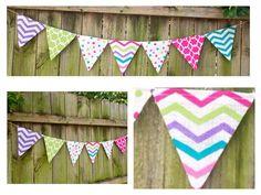 Burlap Banner / Burlap Bunting / Baby Shower / Adornos hechos en manta o yute ,para fiestas de niños o baby showers.