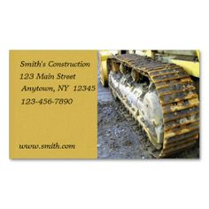 Construction Business Card. This great business card design is available for customization. All text style, colors, sizes can be modified to fit your needs. Just click the image to learn more!