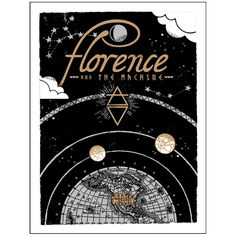 Florence + The Machine - How Big US Tour Screenprint 2015