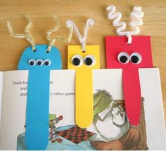 Monster bookmarks.  Would be good instead of Halloween candy as a treat;)