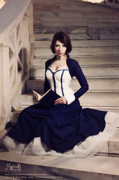 BioShock Infinite: Elisabeth Cosplay Cosplay,Edit by Irene Astral Photography by: SpirosK photography If you want to support me and. Bioshock Infinite Cosplay: Liz And Her Book Cosplay Makeup, Cosplay Outfits, Anime Cosplay, Cosplay Girls, Cosplay Costumes, Cosplay Ideas, Bioshock Infinite, Amazing Cosplay, Best Cosplay
