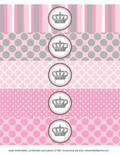Baby Shower or Birthday Party Little Pincess Crown - Print Water ...
