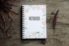 Flower notebook spiral notebook journal lined by PaperNotebook