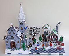 Awesome winter village church: