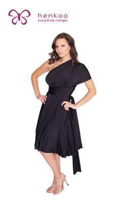 Sakura Midi Convertible Dress - Night Black