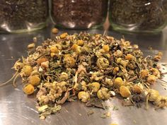 From my Witch Doctor collection:  Sleep Potion. This delicate herbal tea was designed to assist with making falling to sleep easier and better sleep quality. Sleep Potion consists of everything you need to unwind for a good night's sleep; chamomile, valerian root, peppermint, lemon balm, Passion flower and powdered honey.  Facebook.com/ArmchairAnthroTeaCo