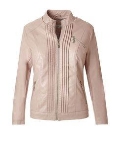 Pink pearl pleather cleo jacket