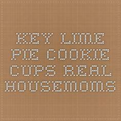 Key Lime Pie Cookie Cups - Real Housemoms