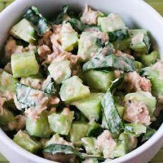 Garden Cucumber Salad with Tuna and Sweet Basil Recipe