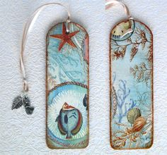 WOODEN BOOKMARK handmade decoupage one copy by MEGSWORD on Etsy, £5.00