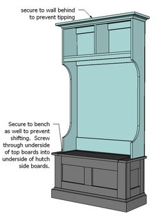 Ana White   Build a Mimi's Hall Tree Hutch   Free and Easy DIY Project and Furniture Plans