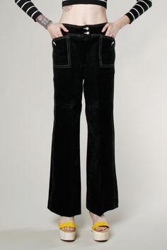 Vintage 70s Samuel Robert Suede Leather Bell Bottom Pants #70s #vintage #bellbottoms