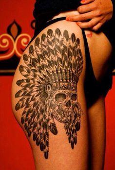 Indian skull tat