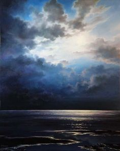 Moonlight Shore by Varvara Harmon - Moonlight Shore Painting - Moonlight Shore Fine Art Prints and Posters for Sale