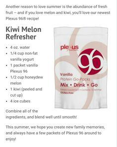 Yummy #melon #kiwi #plexusp96 #dplexuspower