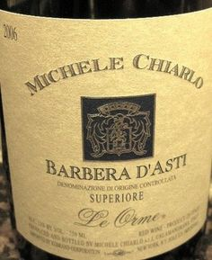 Barbera d'asti wine.