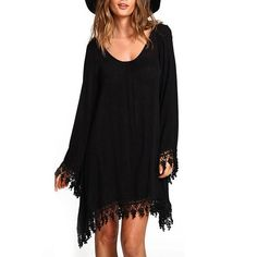 SALE 🌟LAST 1✨Boho Chic Sheer Lace Detailed Dress SAMPLE SALE DRESS IS SHEER SEE LAST PHOTO 🌟Bohemian Chic Lace Detailed Dress ✨Material: Cotton and Poly Blend ✨CAN BE WORN AS A TOP OR MINI - 🚨This dress is SHEER  the model is wearing a slip under the dress 🚨✨Two Sizes Available Use Measurements to Determine Best Fit✨For a looser fit go up one size ✨M Bust 34.64 . Length 33.4 . Sleeve Length 23.6 ✨ L Bust 36.2 . Length 33.8 . Sleeve Length 24.0 ✨ Dresses