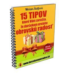 E-book zdarma 15 tipov ako urobiť darčekom radosť | Miriam Štolfová