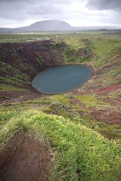 Kerid Crater Lake   Iceland (by Erika Flugge) / Tumblr