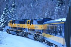 The Alaskan Railroad. Looks like an awesome way to view Alaskan wilderness. Alaskan Railroad, Heritage Railway, Rail Transport, Train Art, Old Trains, Train Engines, Train Journey, Diesel Locomotive, Alaska Travel