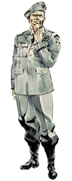 MGS2. Colonel Roy Campbell. Yoji Shinkawa.
