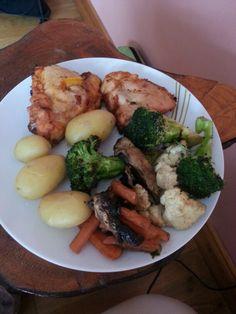 Chicken breast with veg