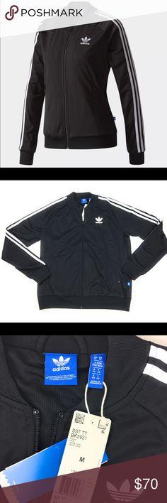 New Adidas Originals Superstar Track Jacket Medium New Adidas Originals  Superstar Track Jacket Black White ( 56038ec1b