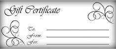 Gift certificates templates free printable gift certificate Pinterest #SampleResume #FreeCouponTemplate