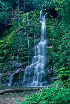 ... Forillon National Park - La Chute waterfall, Gaspe Peninsula, Quebec