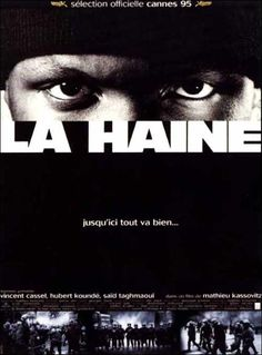 La Haine (French pronunciation: [la ɛn], literally Hate) is a 1995 French black-and-white drama film written, co-edited, and directed by Mathieu Kassovitz. Vincent Cassel, City Of God, La Haine Film, Cannes, Midnight Marauders, Festival International Du Film, Indie, Films Cinema, Spike Lee