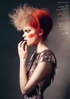 """Paint My Love With Joy""   Model: Hélène Desmettre, Photographer: Anja Frers, 74 Magazine, 2012"
