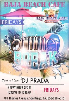 DJ Prada Friday nights at Baja Beach Cafe, San Diego, California