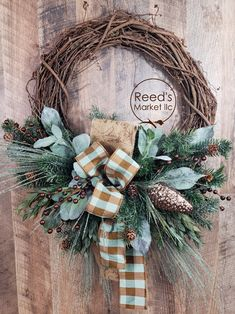 Wreaths and Floral arrangements as unique as you are. Christmas Door Wreaths, Holiday Wreaths, Rustic Christmas, Christmas Time, Christmas Crafts, Christmas Decorations, Christmas Ornaments, Holiday Decor, Corona Floral
