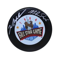 MARK MESSIER/ Mike Richter Dual Signed 1994 All Star Hockey Puck STEINER - Game…