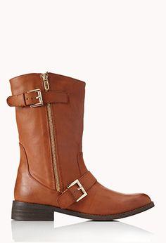 Sleek Biker Boots | FOREVER 21 Alternative for riding boots for us shorter girls