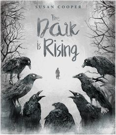The Dark is Rising by Susan Cooper book cover concept - etching