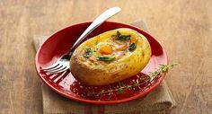 Œuf cocotte en coque de pomme de terre à l'oseille et au saumonVoir la recette de l'Œuf cocotte en coque de pomme de terre à l'oseille et au saumon >>
