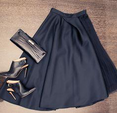 new favorite black skirt